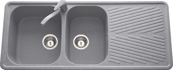 Faber Kitchen Sinks Beethoven d200 double bowl granite finish with drain board workwithnaturefo