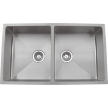 Quadro 34x20x8 double bowl matt finish