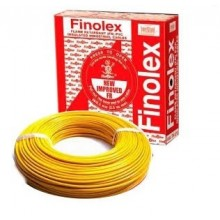 Yellow colour-1.0 Sqmm 90 Mtrs Single Core Flame Retardant PVC Insulated Industrial / Domestic Cables.