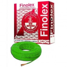 Green colour-4 Sqmm 90 Mtrs Single Core Flame Retardant PVC Insulated Industrial / Domestic Cables.