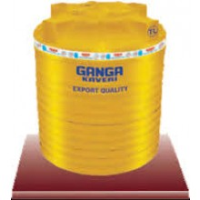 Ganga Kaveri 5000 litres, Yellow colored , Triple layered water storage tank.
