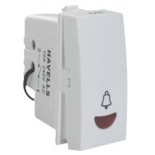 Havells-Pearlz-10 Ax Bell Push with Ind. Switch