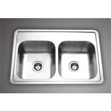 "APOLLO DBF E01 - 33""x22""  Double  Bowl sink"