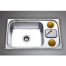 "ZODIAC SBGB 01- 32""x20 "" Single boel SS Sink with soap holder"