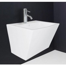 Hindware Modena Integrated Semi Pedestal, 57 x 48 x 39 cm star white