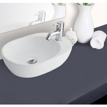Hindware Barca Over Counter Washbasin, Futuristic & savvy design  for ease of usage, 41.5 x 29 x 11.5 cm star white