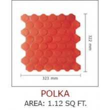 POLKA-AREA :1.12 SQ FT.